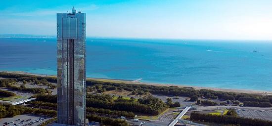 Cảnh đẹp lộng lẫy tại tháp cảng Chiba, Nhật Bản