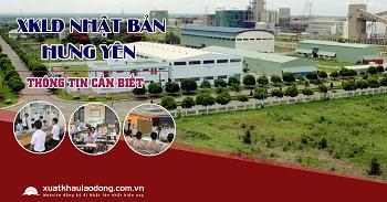 Tuyển 250 lao động đi xuất khẩu Nhật Bản tại tỉnh Hưng Yên