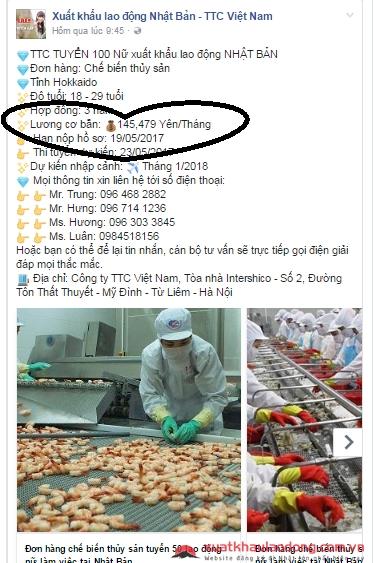 Mức lương đi xuất khẩu lao động Nhật Bản