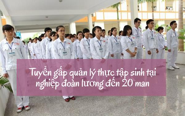 Cần tuyển vị trí quản lý thực tập sinh tại nghiệp đoàn lương lên đến 20 man