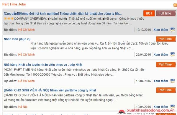 Tìm việc làm tiếng Nhật partime tại Hà Nội ở đâu - Có dễ dàng không ?