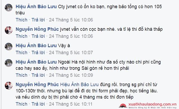 Đánh giá công ty JVNet - công ty XKLĐ Nhật Bản tại Hà Nội