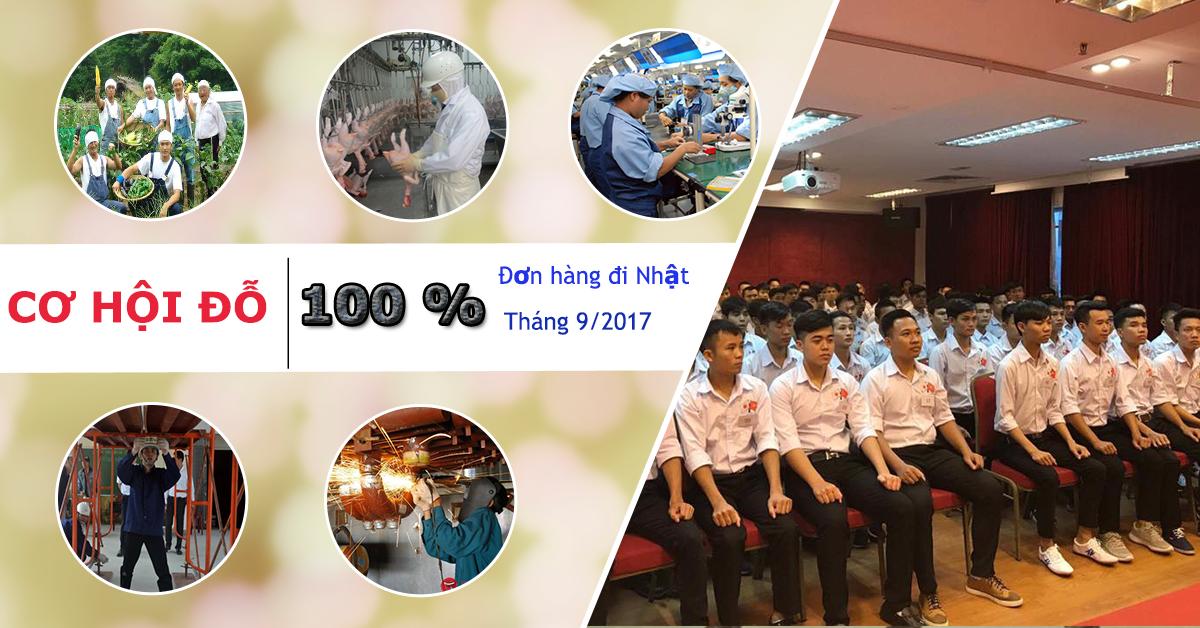 Cơ hội đỗ 100% đơn hàng XKLĐ Nhật Bản tháng 9/2017 tại TTC Việt nam
