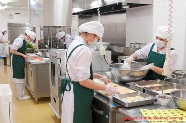 môi trường làm việc của ngành chế biến thực phẩm tại nhật