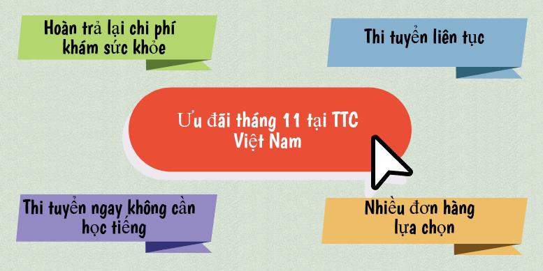 Chính sách hỗ trợ phí tại TTC Việt Nam tháng 11/2017