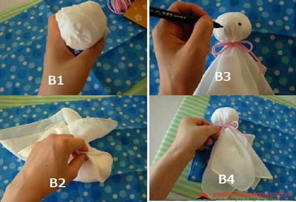 cách làm búp bê cầu nắng Nhật Bản