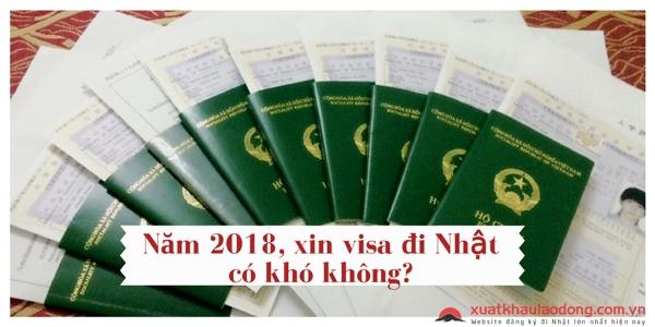 năm 2018 xin visa nhật bản có khó không