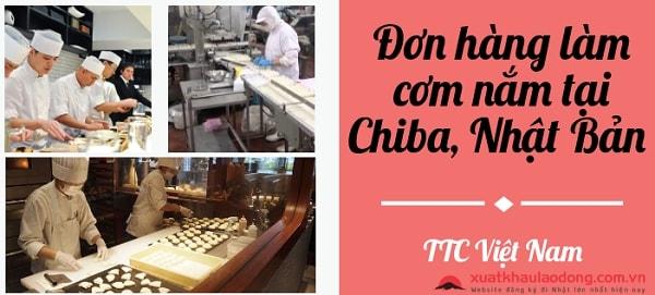 Tuyển 60 nam chế biến thực phẩm làm cơm nắm tại Chiba Nhật Bản