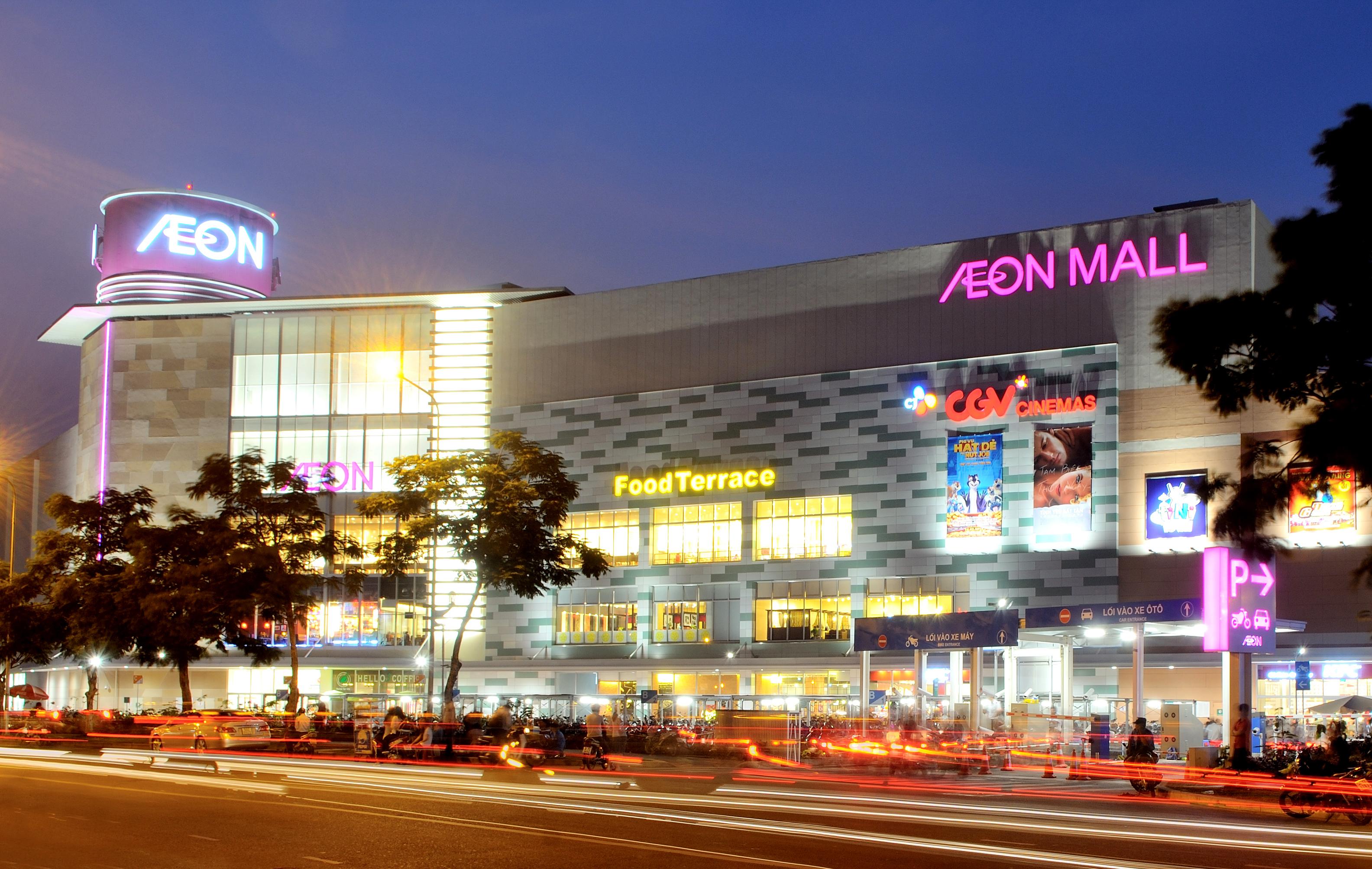Toàn cảnh trung tâm mua sắm AEON MALL Tân Phú