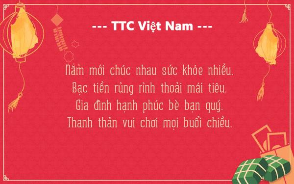 Công ty TTC Việt Nam chúc mừng năm mới 2018