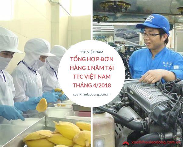 Tổng hợp đơn hàng 1 năm tại TTC Việt Nam tháng 06/2018