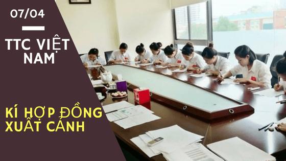 Lễ kí kết hợp đồng xuất cảnh tại TTC Việt Nam