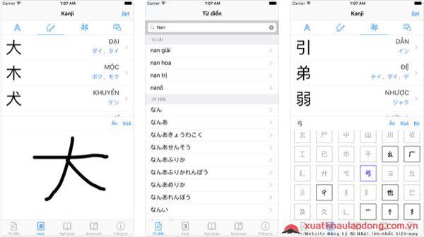 app từ điển tiếng nhật xkanji