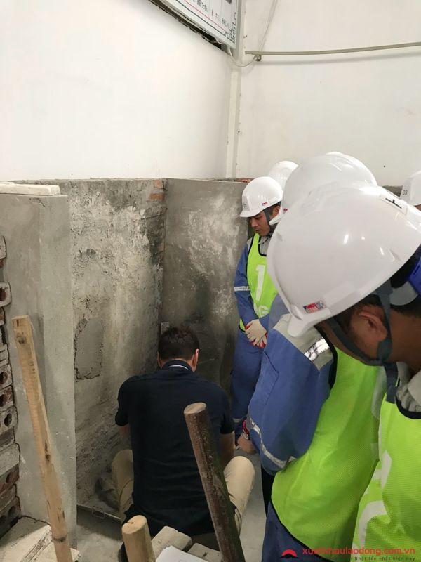 thi tay nghề đơn hàng xây trát
