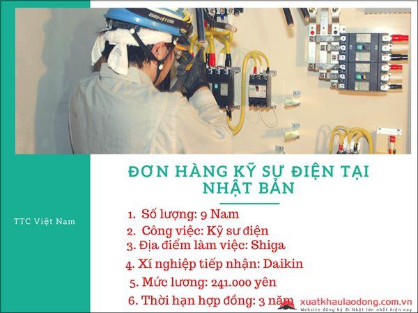 đơn hàng kỹ sư điện tại nhật bản