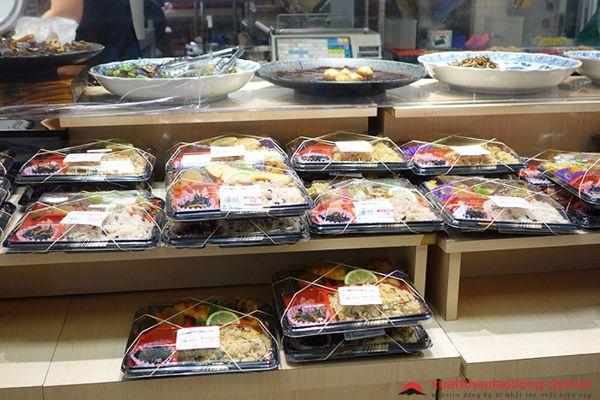đơn hàng thực phẩm siêu thị XKLĐ Nhật Bản