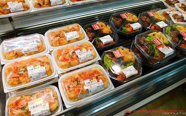 đơn hàng chế biến thực phẩm siêu thị