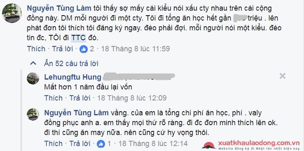 Đánh giá của người lao động về TTC Việt Nam