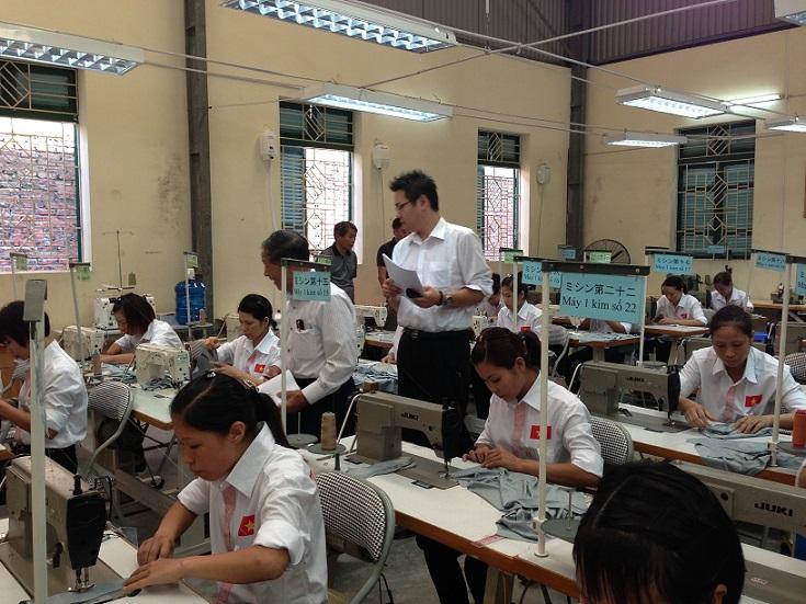 thi tuyển đơn hàng may xuất khẩu lao động nhật bản