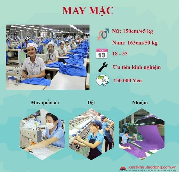 don hang phu nu di nhat lam may mac