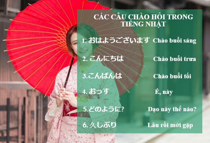 Học cách nói xin chào tiếng Nhật như người bản xứ
