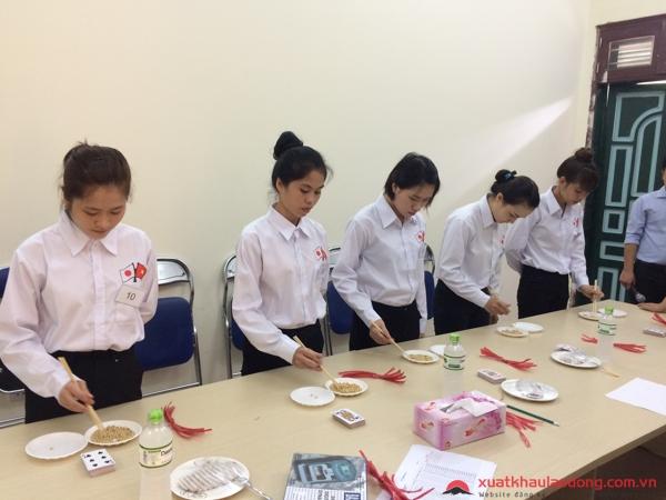 thi tuyển đơn hàng xuất khẩu lao động Nhật Bản 1 năm