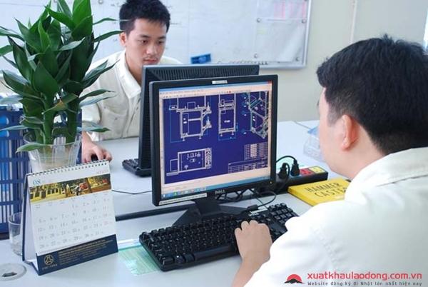 Tuyển gấp 100 kỹ sư thiết kế CAD làm việc tại Nhật Bản lương 50 triệu/tháng