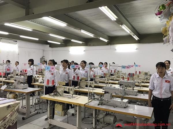 thi tuyển đơn may XKLĐ Nhật