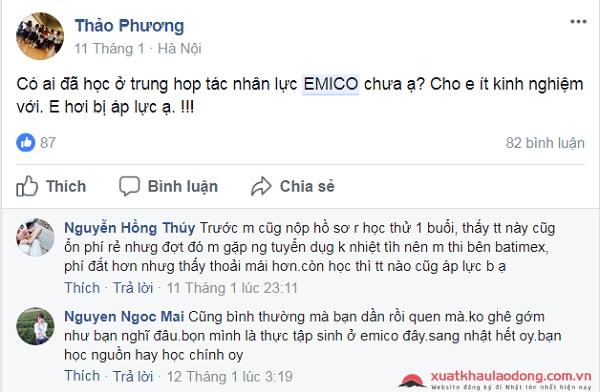 Đánh giá công ty Emico -công ty XKLĐ Nhật Bản tại Hà Nội
