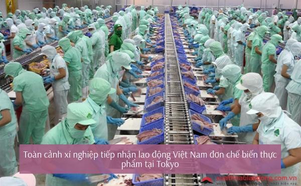 làm chế biến thực phẩm ở Nhật Bản