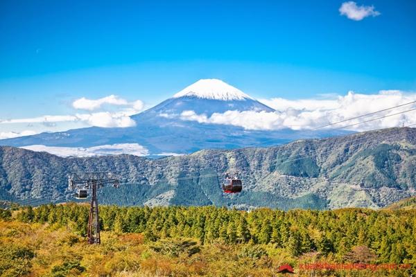 ngắm núi phú sĩ từ thị trấn Hakone