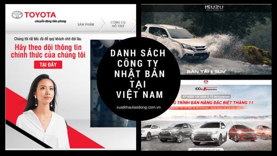 Tổng hợp danh sách các công ty Nhật Bản tại Việt Nam hiện nay