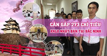 Tuyển 283 lao động xuất khẩu Nhật Bản tại tỉnh Bắc Ninh năm 2018