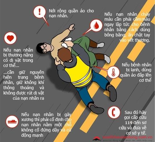 cách sơ cứu nạn nhân gặp tai nạn ở nhật
