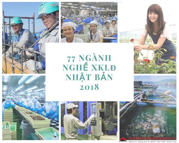 Tổng hợp 77 ngành nghề tuyển chọn xuất khẩu lao động Nhật Bản 2020