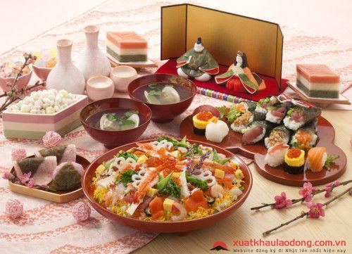 người nhật ăn gì vào lễ hội búp bê Hina Matsuri