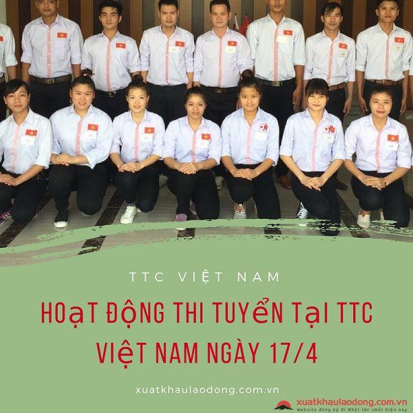 Hoạt động thi tuyển diễn ra sôi nổi tại Hà Nội HR ngày 17/4