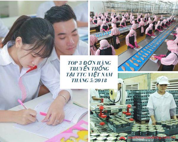 Top 3 đơn hàng truyền thống tại TTC Việt Nam tháng 08/2018