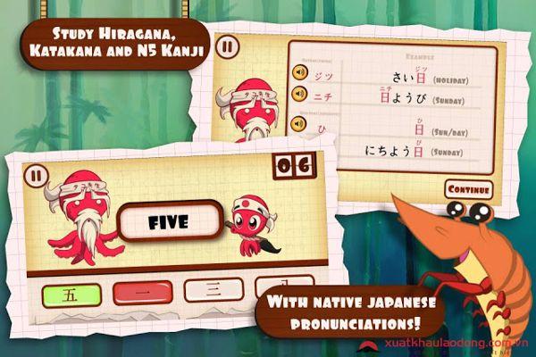 Game TaKo's Japanese học tiếng Nhật