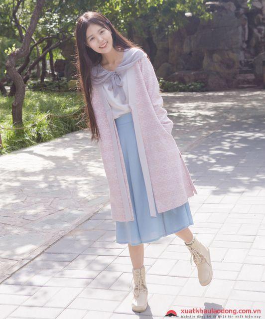 thời trang Nhật Bản Mori girl