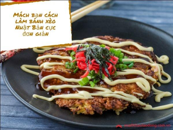 cách làm bánh xèo Nhật Bản Okonomiyaki
