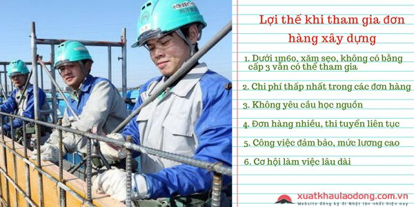 lợi thế khi tham gia đơn hàng xây dựng