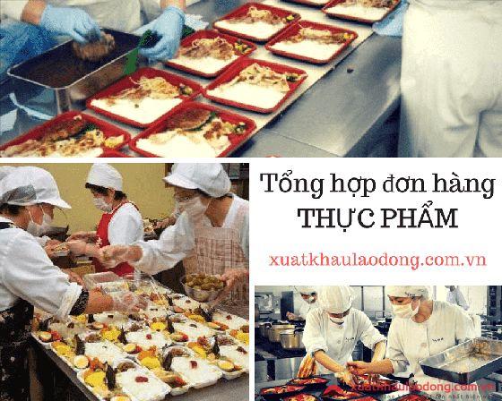 Top 10 đơn hàng thực phẩm Nhật Bản HOT nhất tại xuatkhaulaodong.com.vn năm 2020