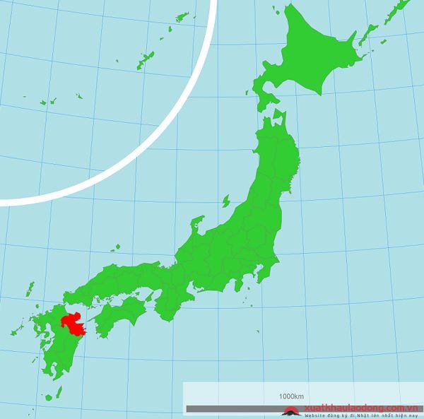 vị trí địa lý tỉnh oita nhật bản