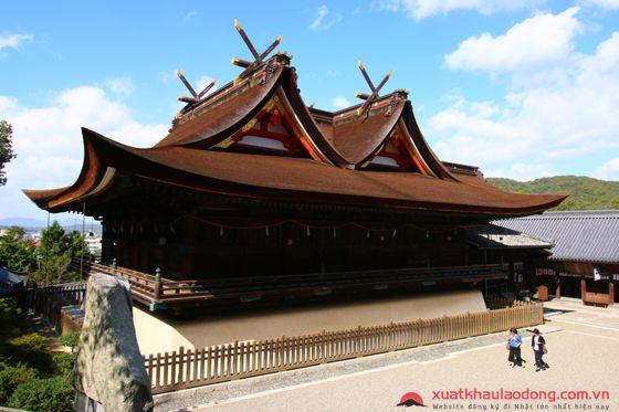 Khung cảnh đền Kibitsu