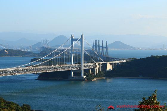 Cầu seto ohashi, Okayama, Nhật Bản