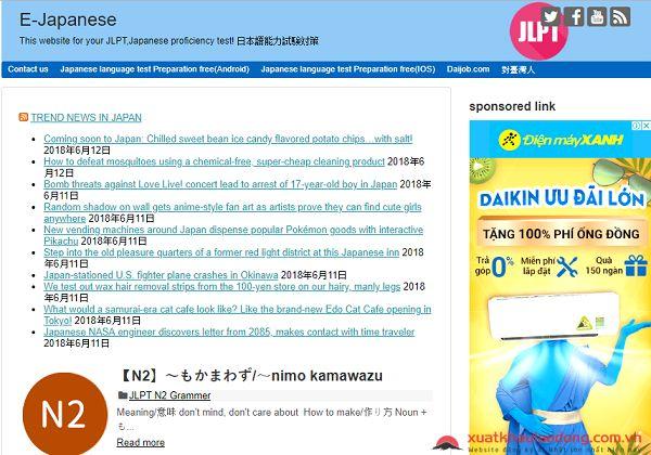 học tiếng Nhật online miễn phí