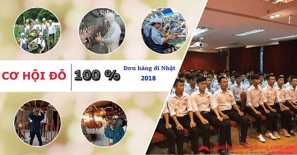 Cơ hội đỗ 100% đơn hàng đi Nhật tháng 10/2018 tại TTC Việt Nam
