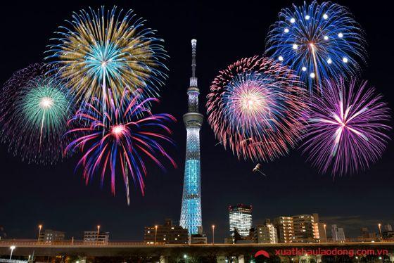 Lễ hội pháo hoa Sumidagawa (隅田川花火大会) (Tokyo)