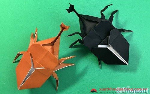 Gấp giấy Origami hình bọ hung